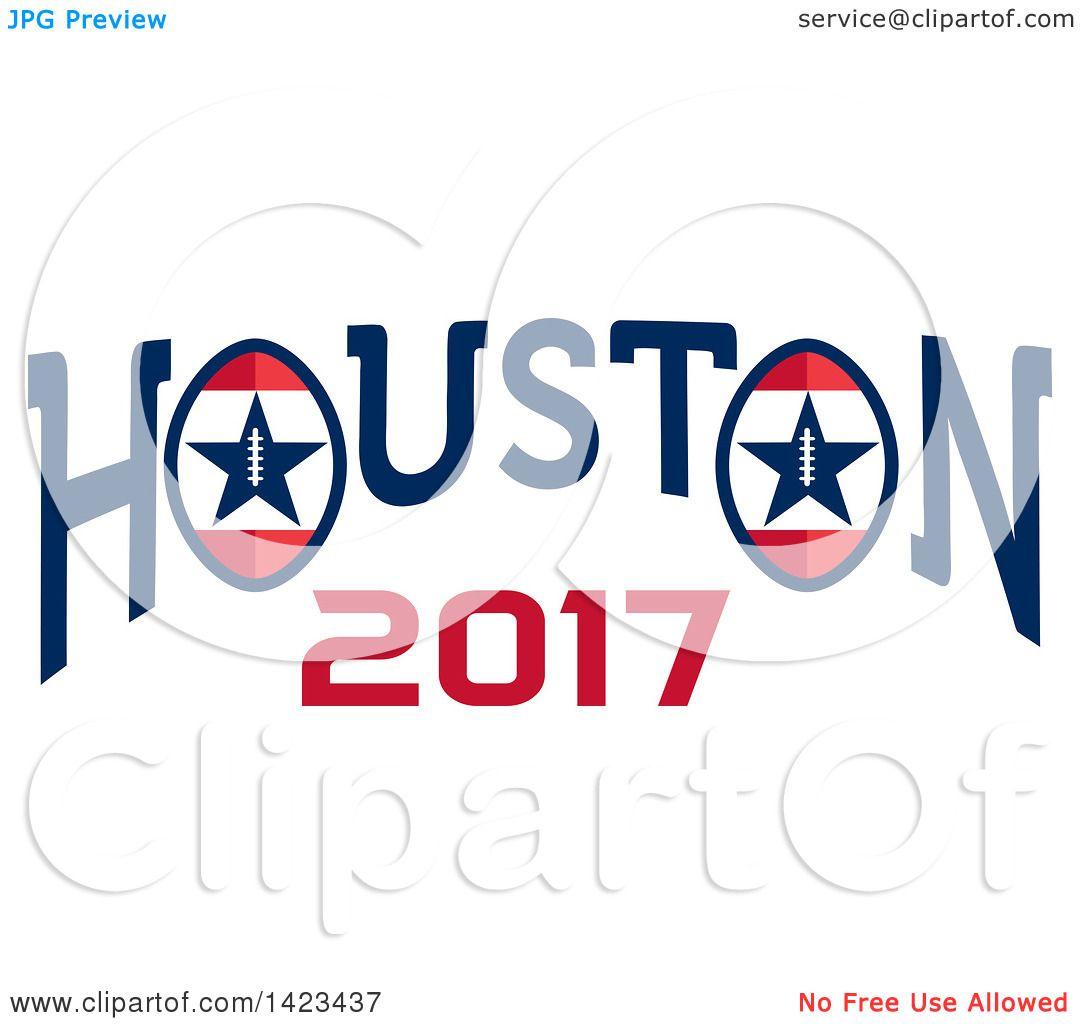 1080x1024 Clipart Of A Retro Super Bowl 51 Houston 2017 Football Design