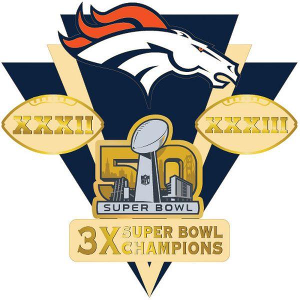600x600 Denver Broncos Super Bowl 50 Champions Franchise Pin Denver