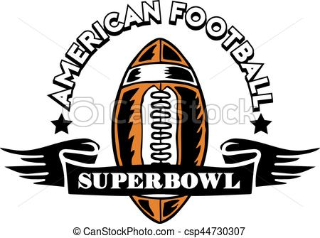 450x335 Rugby Ball Badge. Vector Illustration Of Super Bowl American