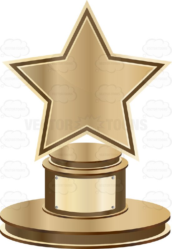 552x800 Marvelous Clipart Trophy Bronze Star On Base With Blank Gold