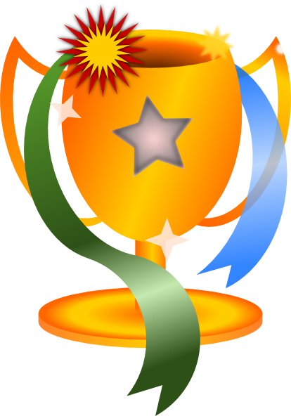 414x592 Trophy Clipart