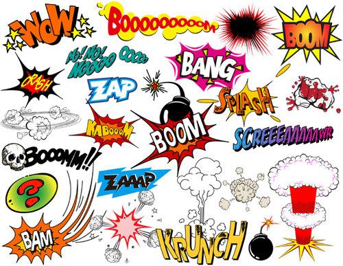 500x387 Instant Download Superhero Clip Art Digital Comic Book Clip Art