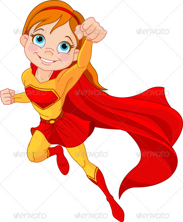 590x716 Super Girl Clipart Superhero Character