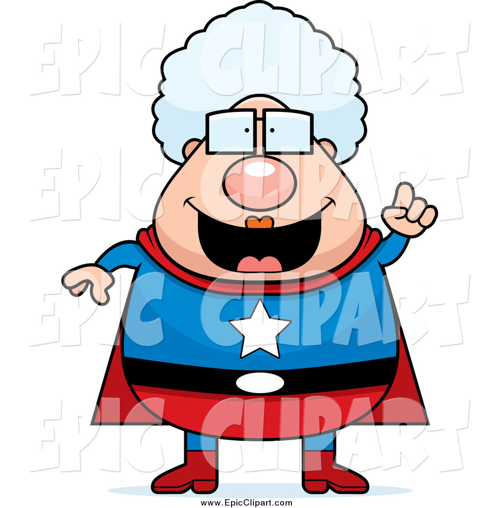1024x1044 Vector Clip Art Of A Super Granny With An Idea By Cory Thoman