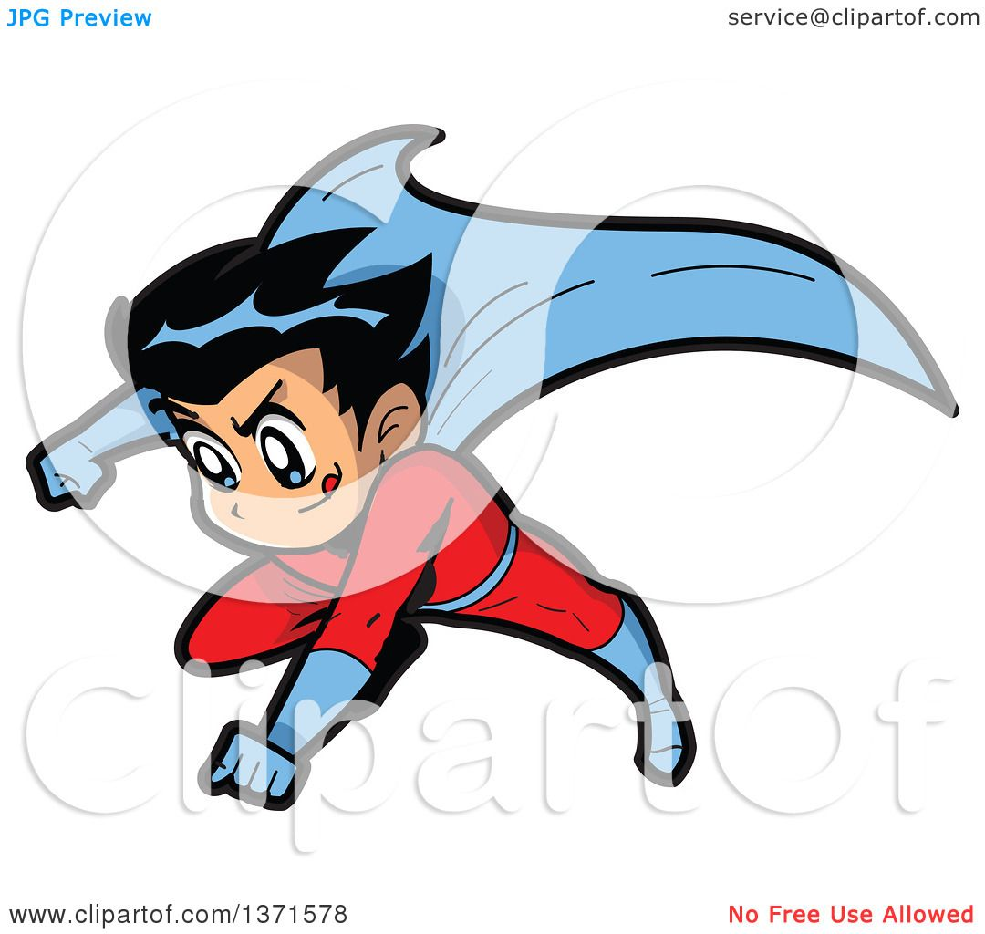 1080x1024 Clipart Of A Male Manga Super Hero Boy Flying