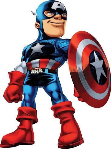 366x488 Marvel Super Hero Squad Captain America Standing Photo