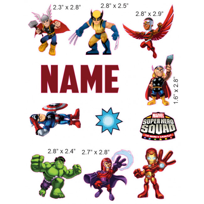 650x650 Super Hero Squad Cranial Band Decoration From High Quality Vinyl