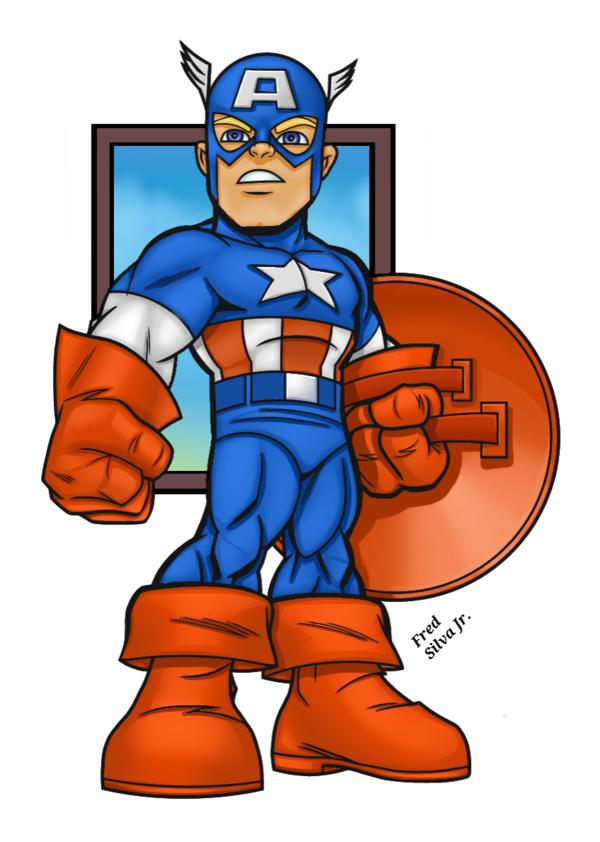 600x842 Superhero Squad Captain America By Luzproco