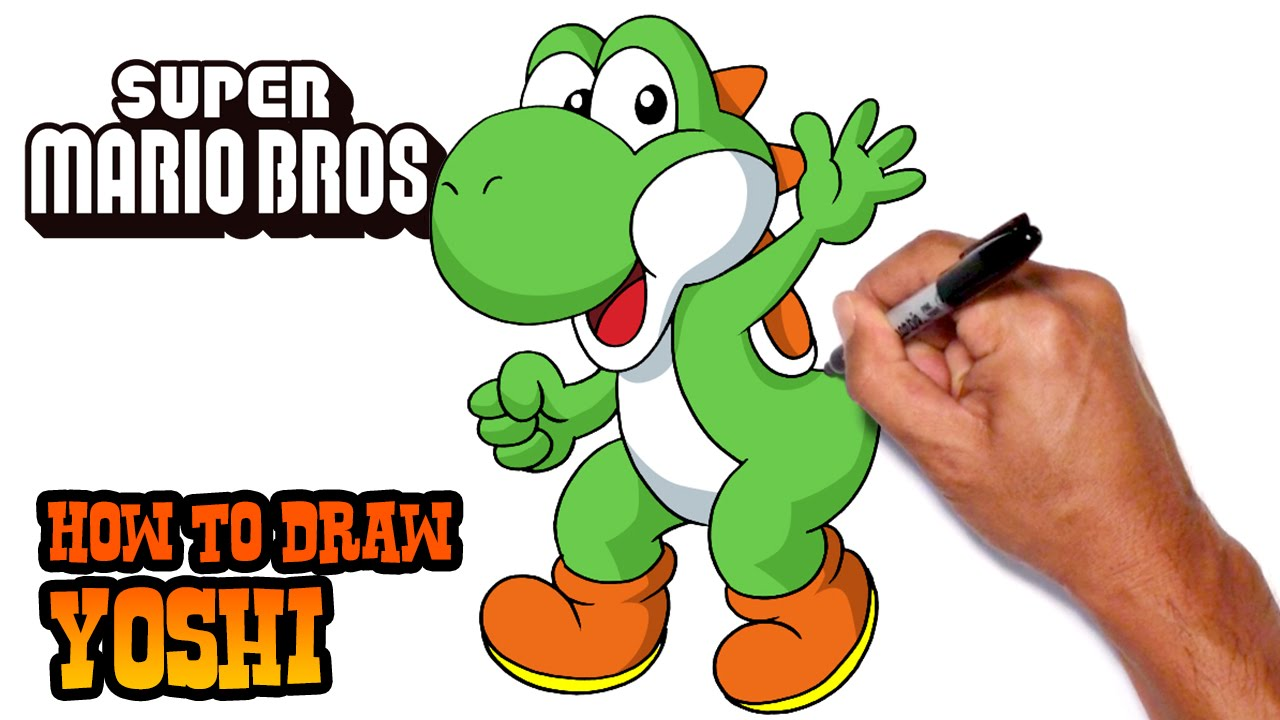 1280x720 How to Draw Yoshi Super Mario Bros