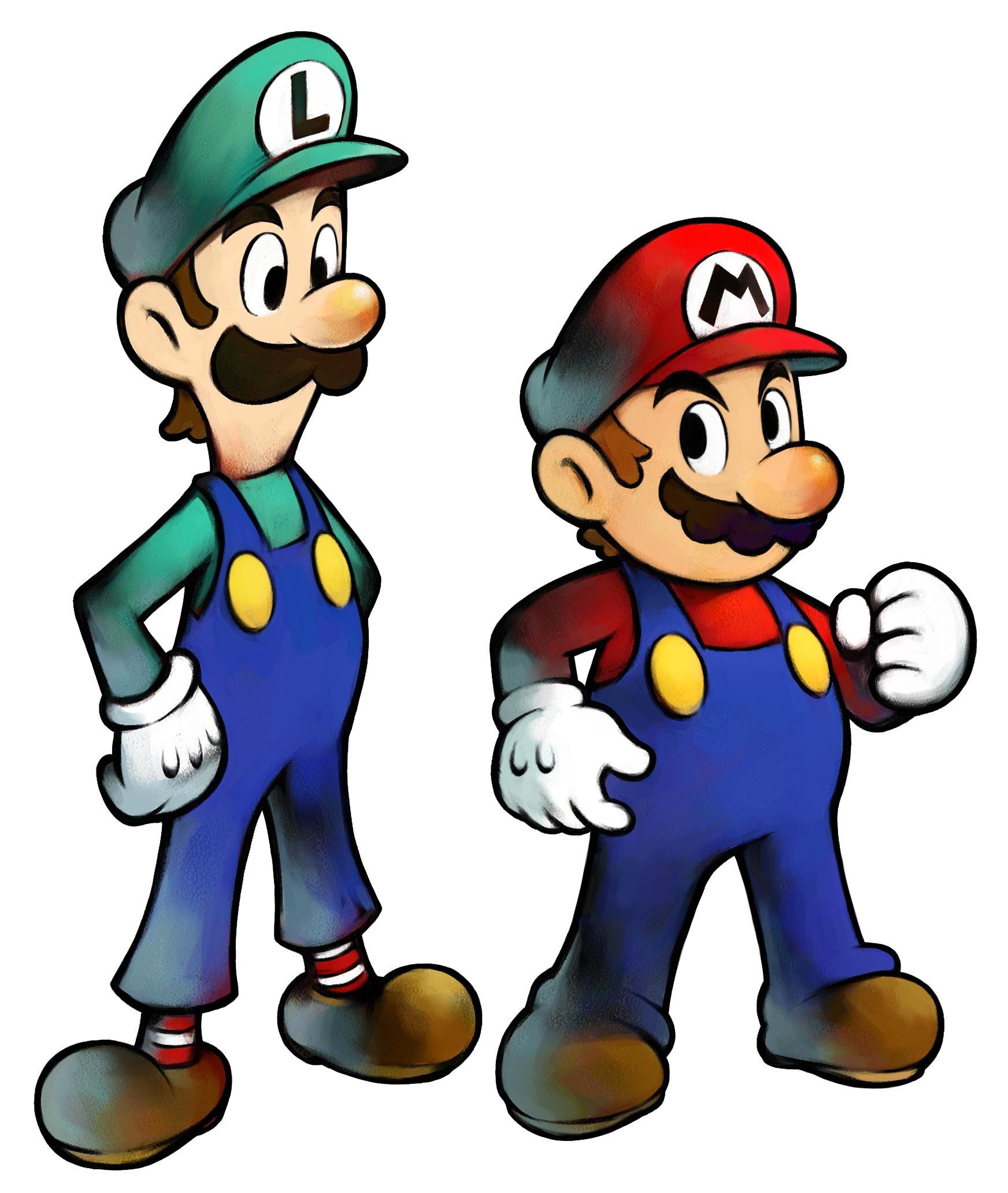 1744x2065 Mario And Luigi Clipart