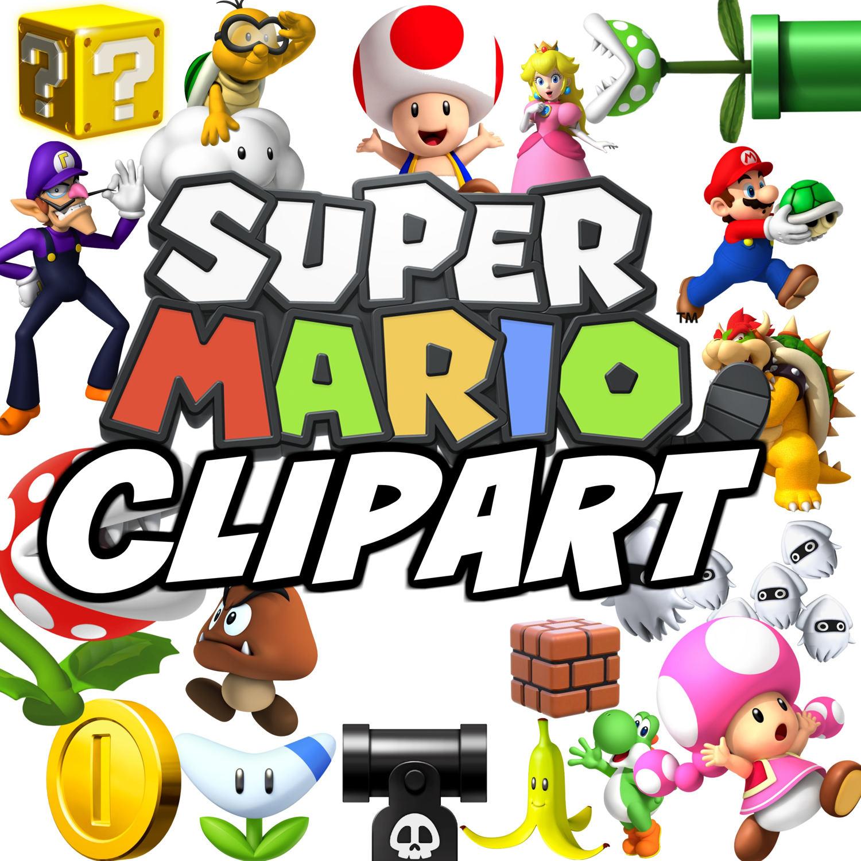 1500x1500 Instant Download Super Mario Clipart , 25 Mario Party Clip Art