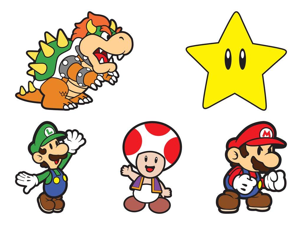 1024x765 Super Mario Characters Vector Art Amp Graphics