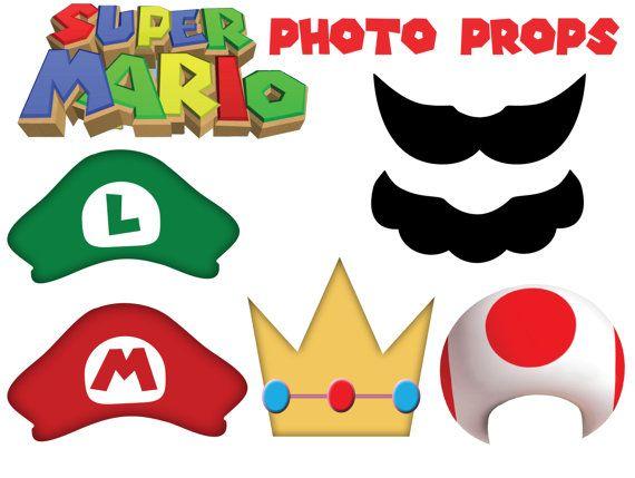 570x429 Super Mario Inspired Photo Props Diy Printable Mario, Luigi