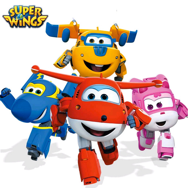 640x640 Mini Super Wings Mini Airplane Abs Robot Toys Action Figures Super