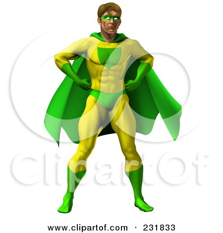 450x470 Super Hero Man To The Rescue, Flying Through A City Clipart