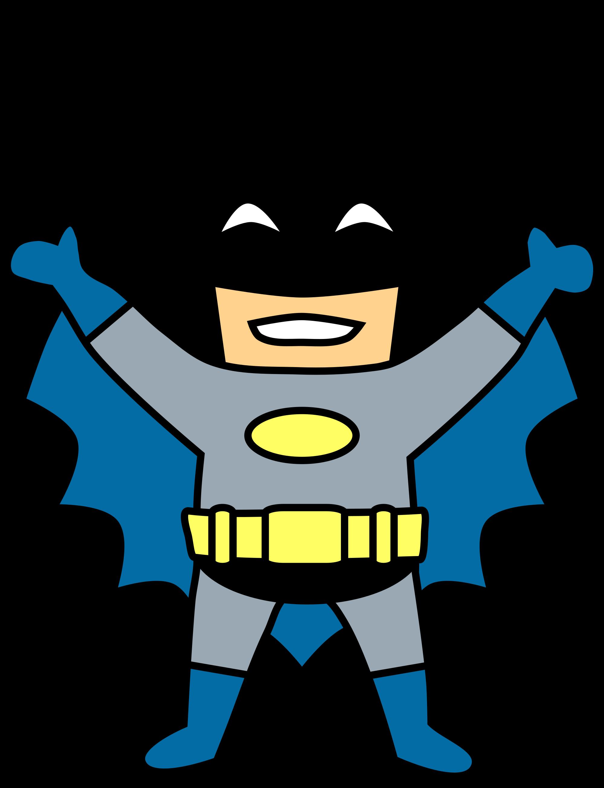 2000x2606 Happy Mini Batman Cartoon Clip Art Transparent