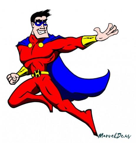 462x485 Superhero Cartoons Free Download Clip Art