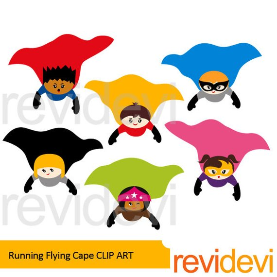 570x570 Superhero Clipart Sale Superhero Flying Cape Clip Art