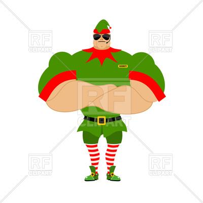 400x400 Strong Santa Elf