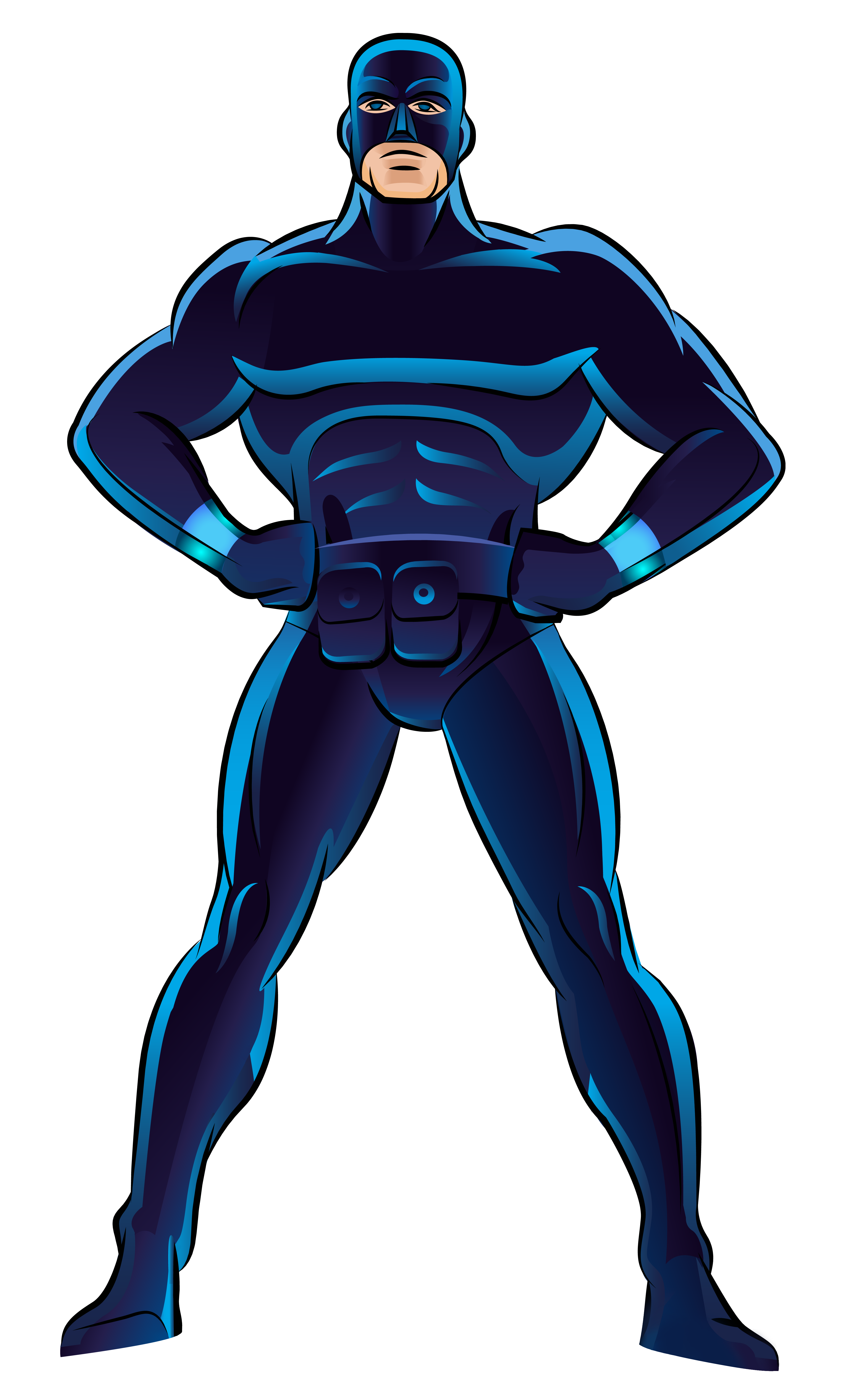 3889x6468 Blue Superhero Png Clip Art