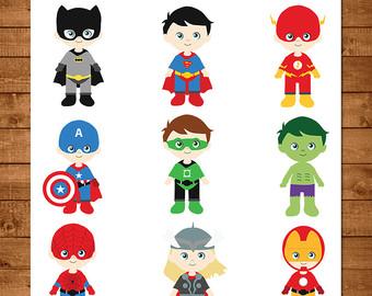 340x270 Superhero Boys Clipart, Superhero Vector Clipart, Hero Clipart