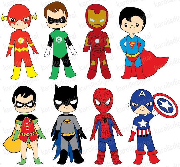 724x671 Superhero Clipart Superheroes Digital Clip Art Set Ironman Batman