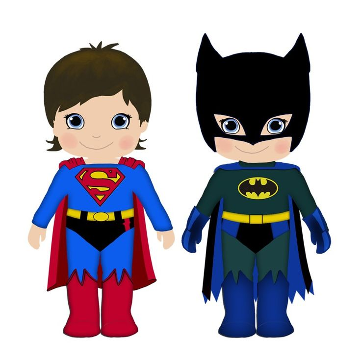 736x736 Generic Superhero Costume Clipart Collection