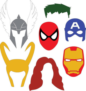 353x375 Mask Clipart Marvel