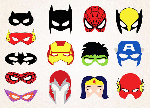 570x410 14 X Superhero Masks Clipart Spiderman Maskatman