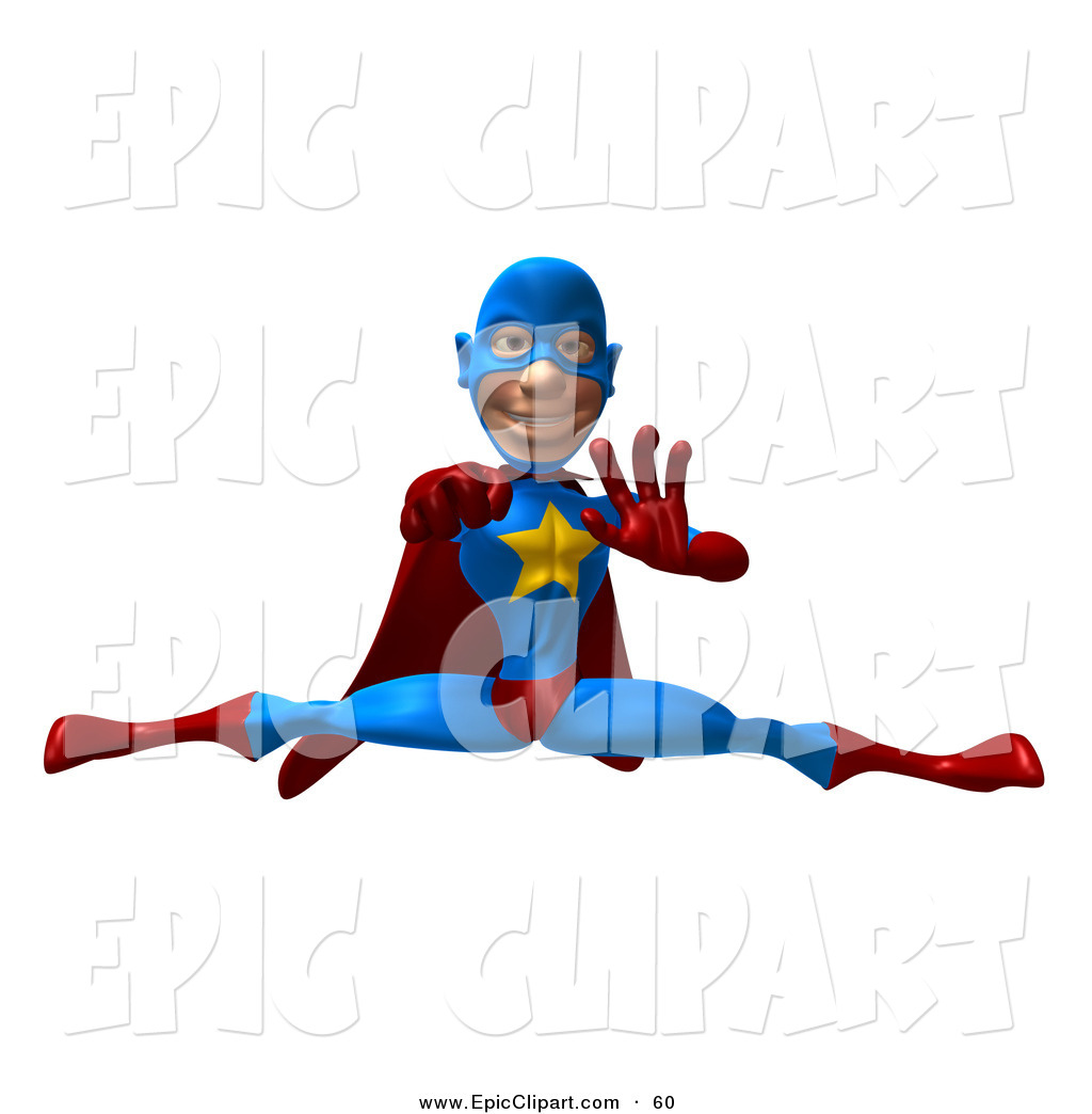 1024x1044 Vector Clip Art Of A 3d Male Star Superhero Character Punching