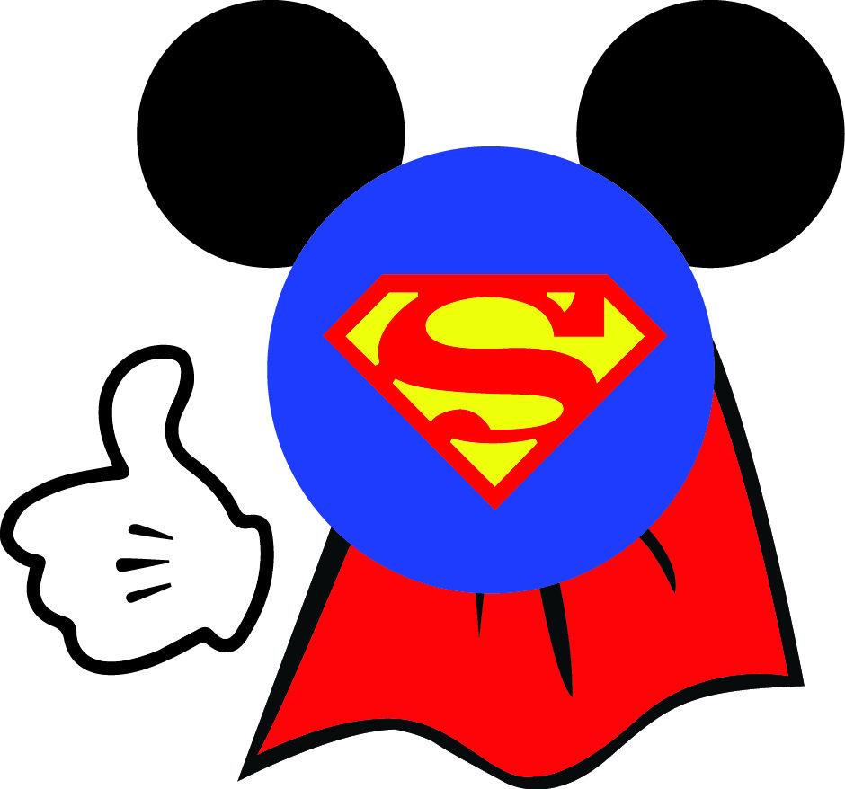 940x878 Mickey Superman Svg