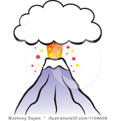400x420 Volcano Clipart