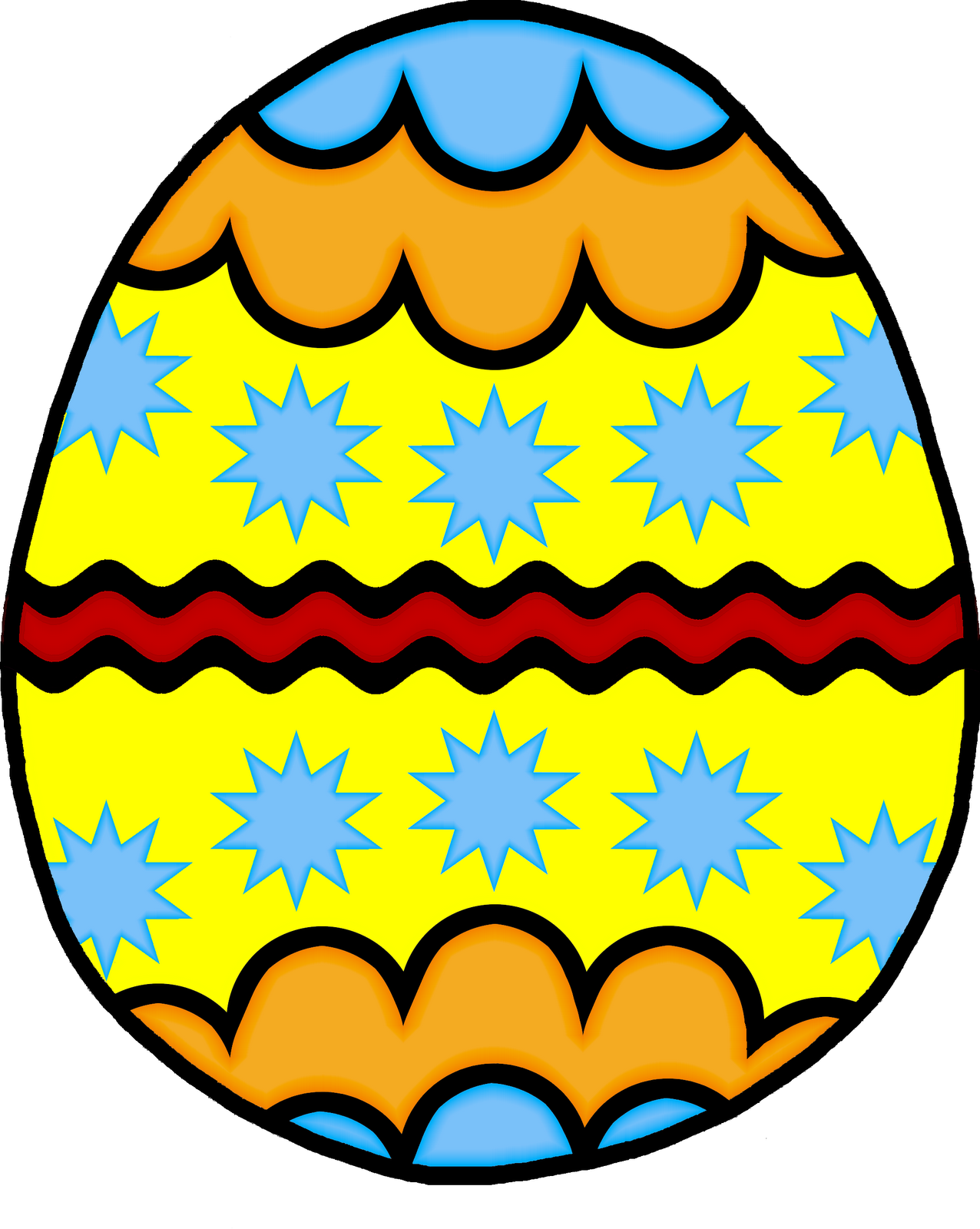 1276x1600 Easter Clip Art Black And White