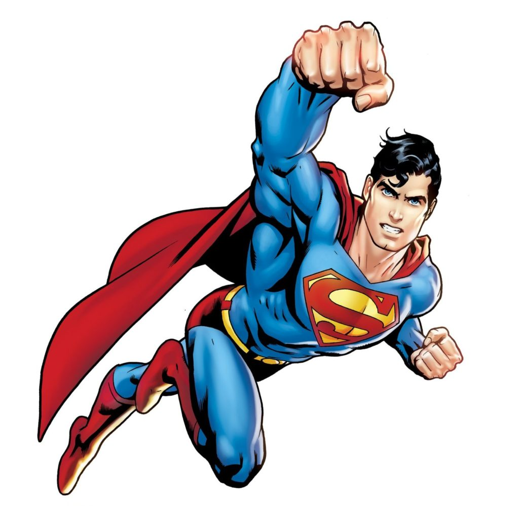 Superman Flying Clipart