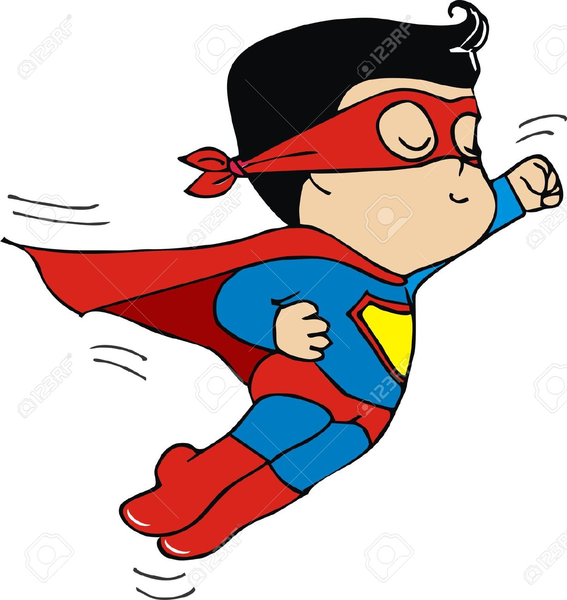 567x600 Clipart Superman Flying Free Images