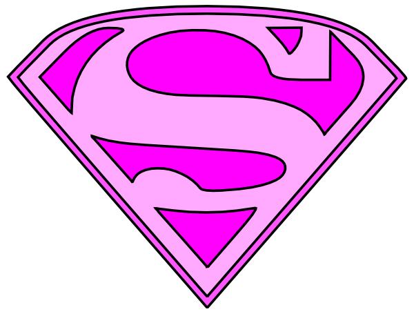 600x455 Pink Superman Logo Svg Clip Arts Download