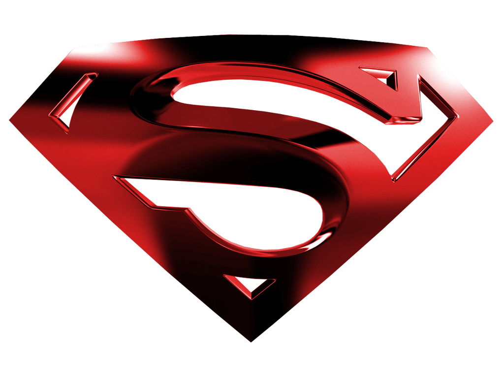 1024x768 Superman Logo In Chrome Clipart