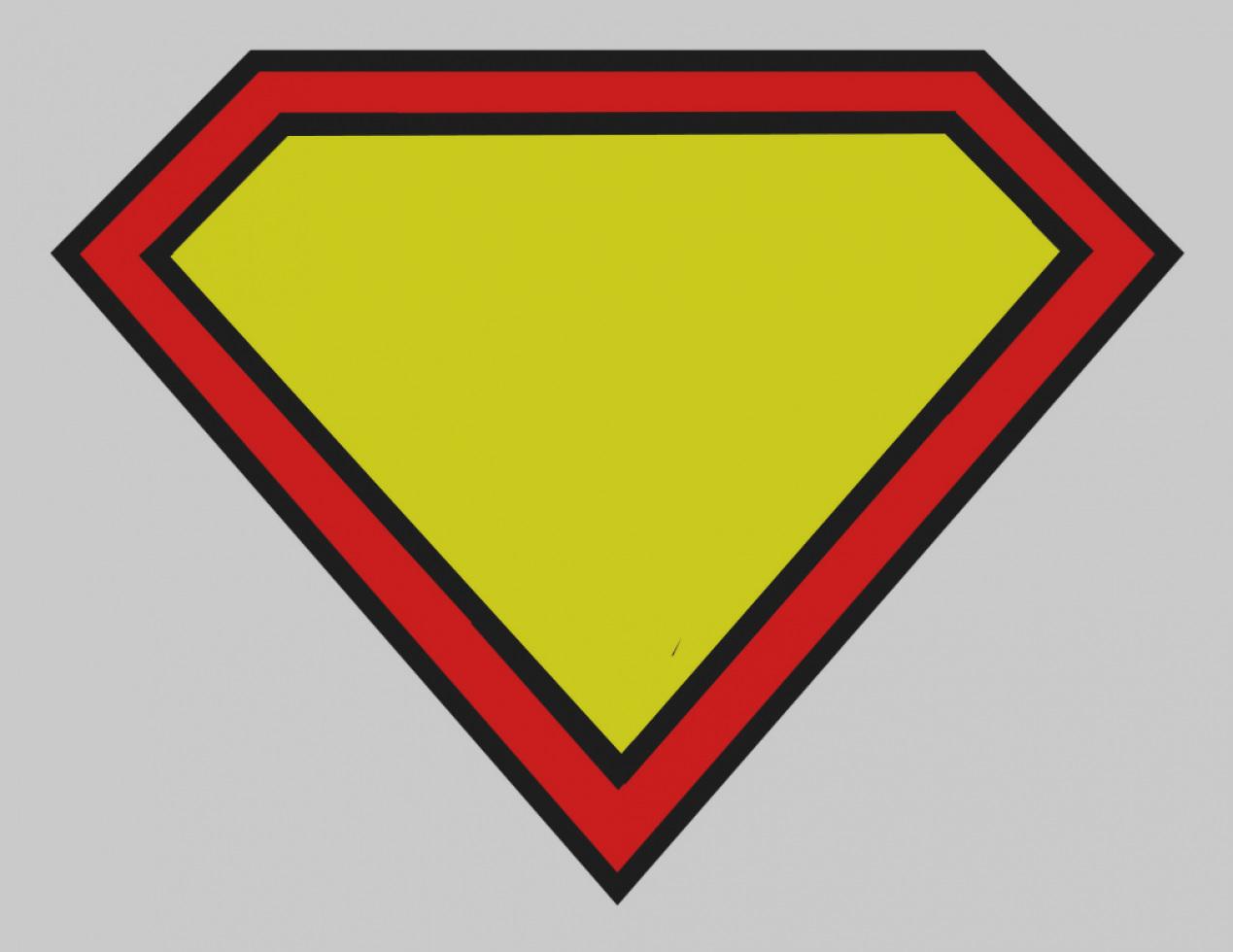 1269x980 Unique Of Blank Superman Logo Template Free Download Clip Art