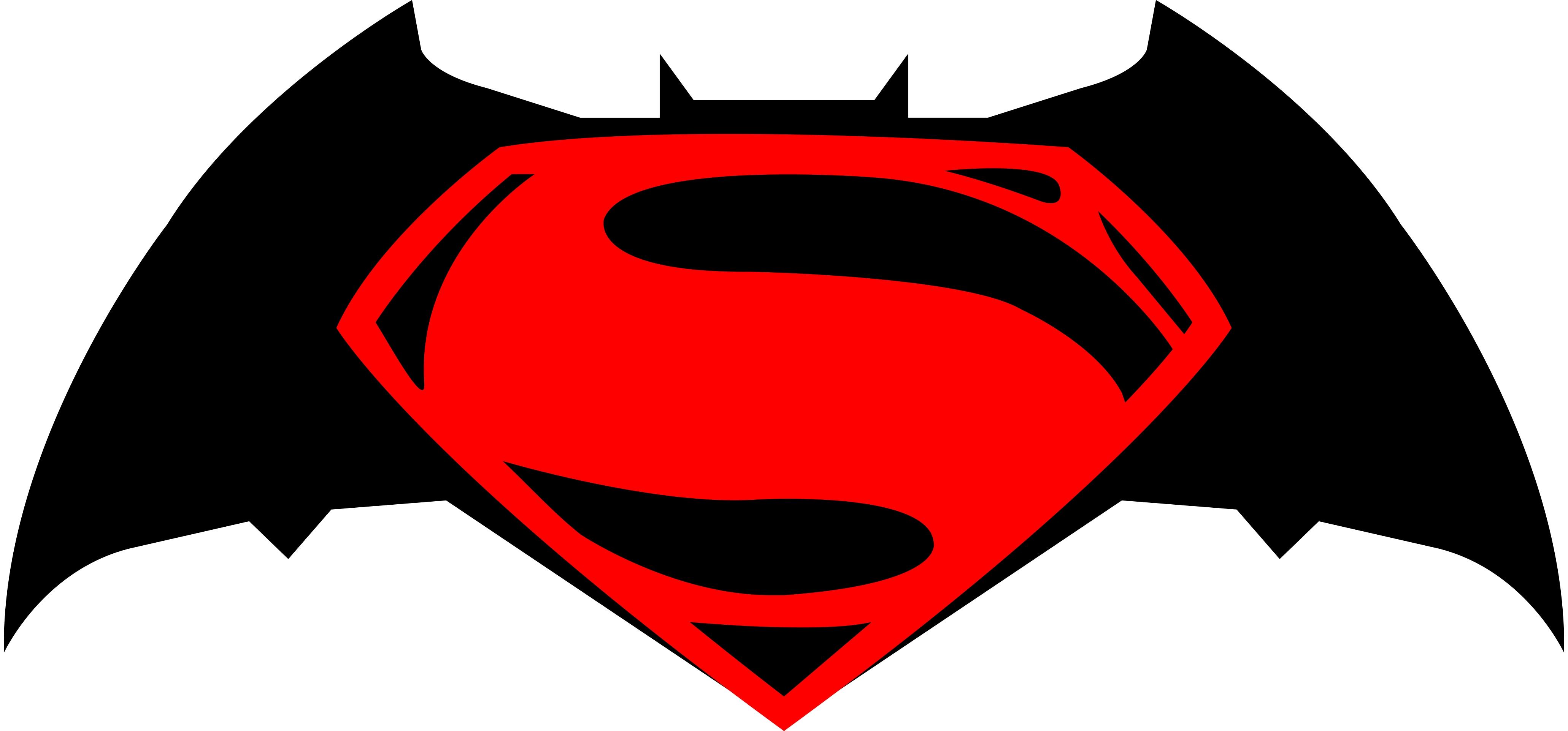 4124x1925 Batman And Superman Clipart