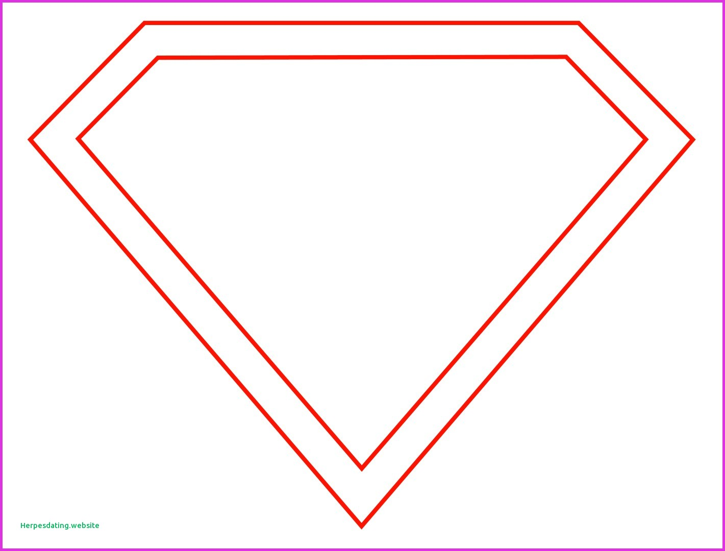 1421x1080 Blank Superman Logo Template New Free Superman Symbol Outline