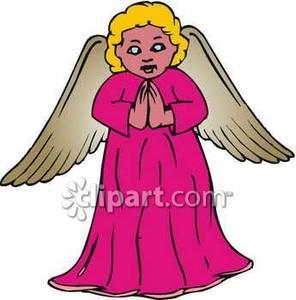 296x300 Praying Little Girl Angel