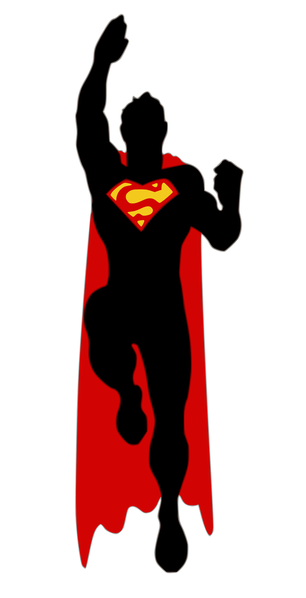 600x1172 Superman Clipart Silhouette