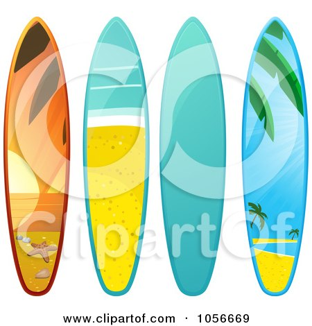 450x470 Royalty Free Vector Clip Art Illustration Of A 3d Shiny Surfboard