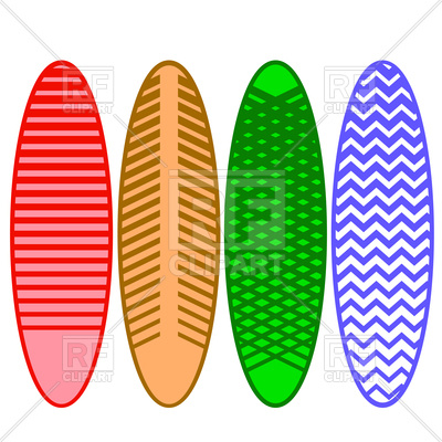 400x400 Surfboards Set Royalty Free Vector Clip Art Image