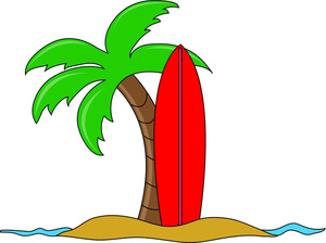 300x224 Surfing Clipart Image