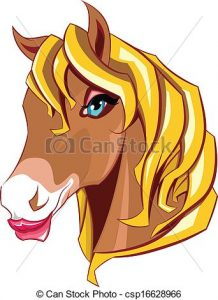 218x300 Horse Head Clipart Horse Head Illustration In Vector Format Clip