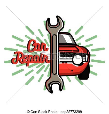450x470 Color Vintage Car Repair Emblem. Service Off Road Suv Car, Eps