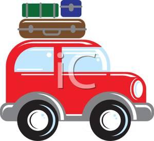 300x274 Luggage On Top Of A Cartoon Suv