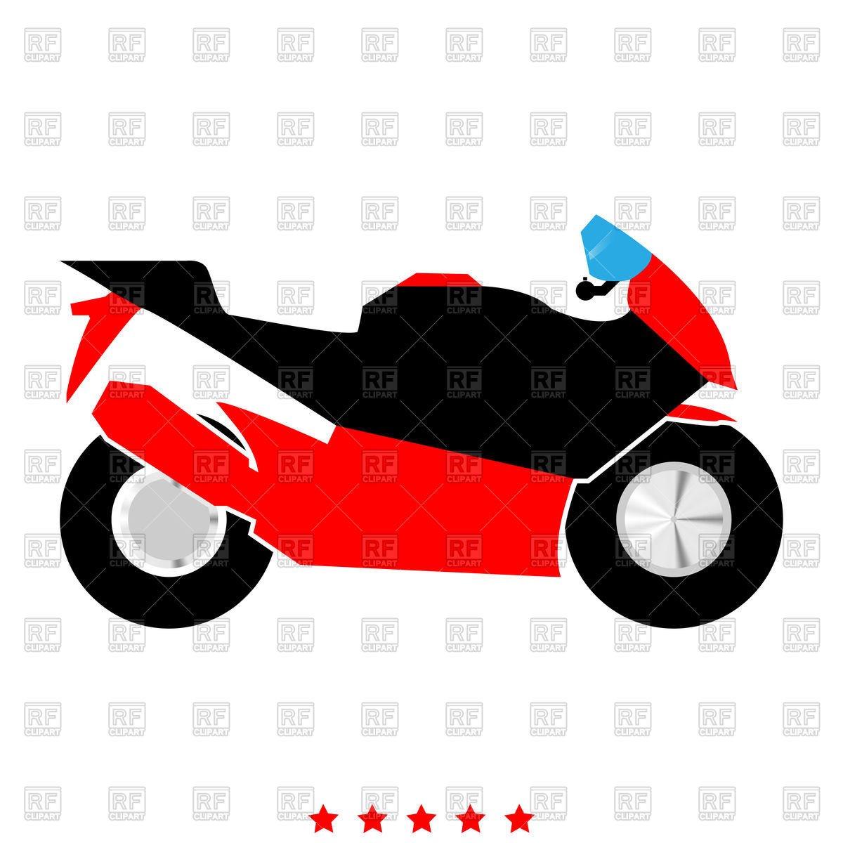 1200x1200 Motorcycle Color Flat Icon Royalty Free Vector Clip Art Image