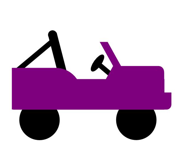 600x557 Purple Jeep Clip Art